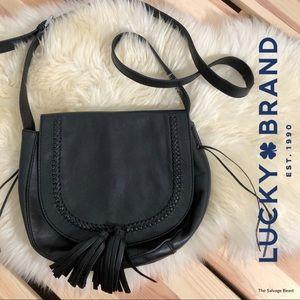 🍀 Lucky Brand Leather Crossbody Braided Tassels